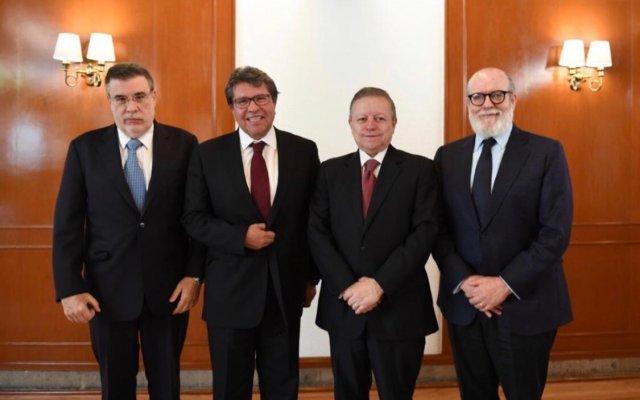 Arturo Zaldívar se reúne con Monreal, Scherer y Borrego Estrada - arturo zaldívar reunión monreal