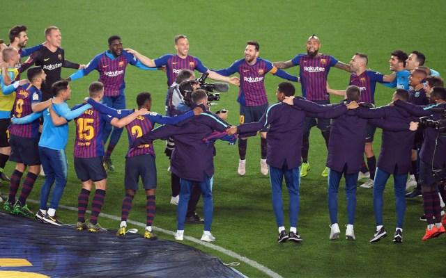 #Video Barcelona campeón de LaLiga con gol de Messi - barcelona
