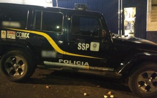 Brasileñas roban casa y atentan contra policías en la CDMX - Camioneta de la SSC-CDMX. Foto de @PoliciaCDMX
