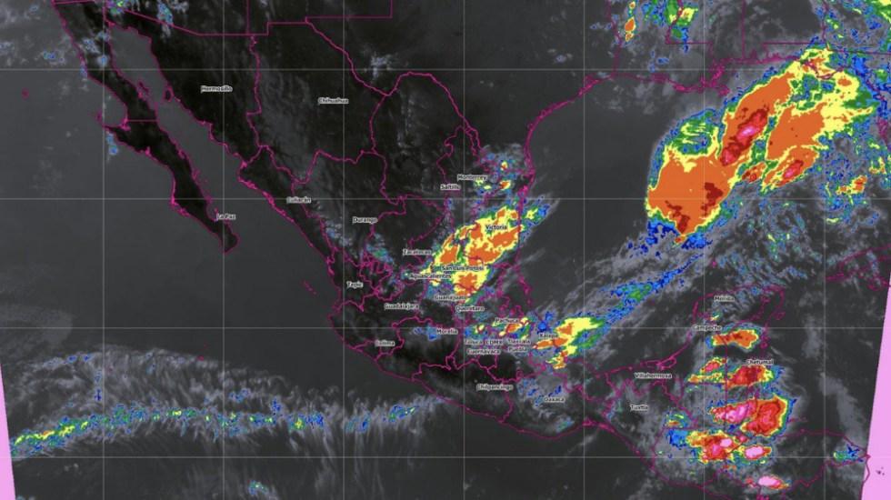 Lluvias con descargas eléctricas y granizadas amenazan a cinco estados - Foto de @conagua_clima