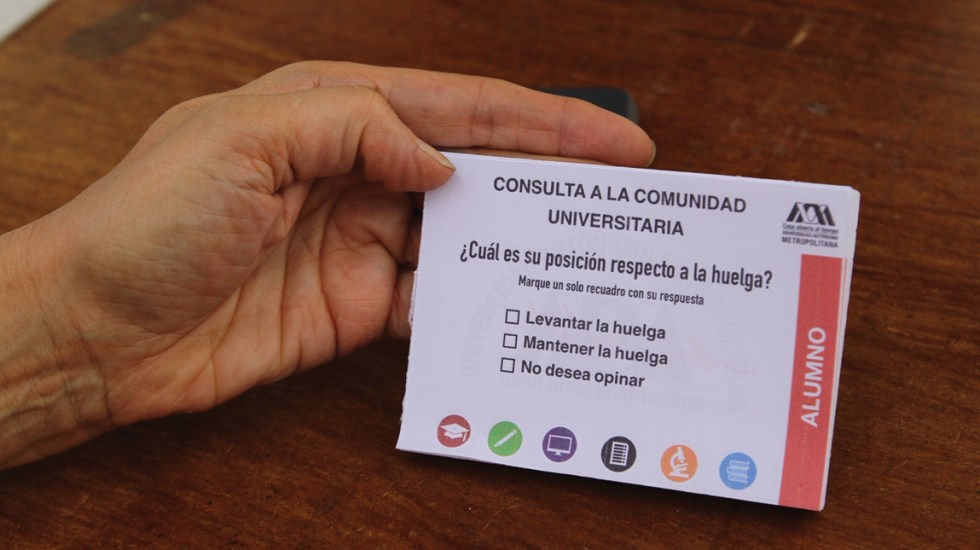 Comunidad de la UAM a favor de finalizar huelga - UAM consulta
