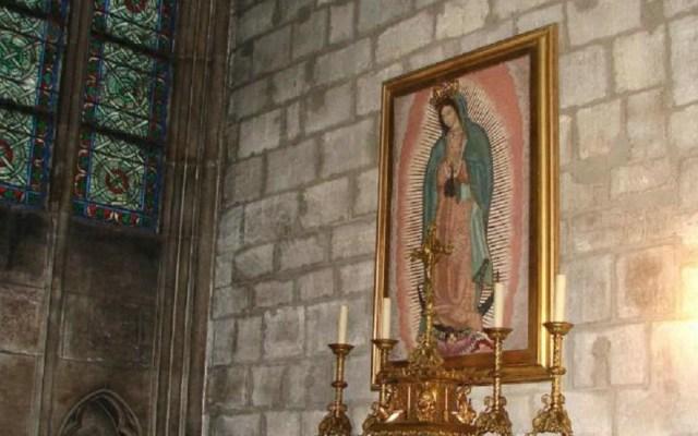 Virgen de Guadalupe resulta sin daños en incendio de Notre-Dame - Cuadro de la virgen de Guadalupe en Notre-Dame. Foto Especial / El Imparcial