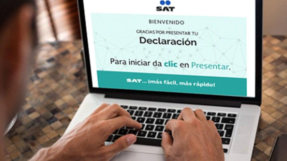 SAT prorroga hasta mayo presentación de la declaración anual de personas físicas - Descartan aumentar plazo para declaración anual del sat