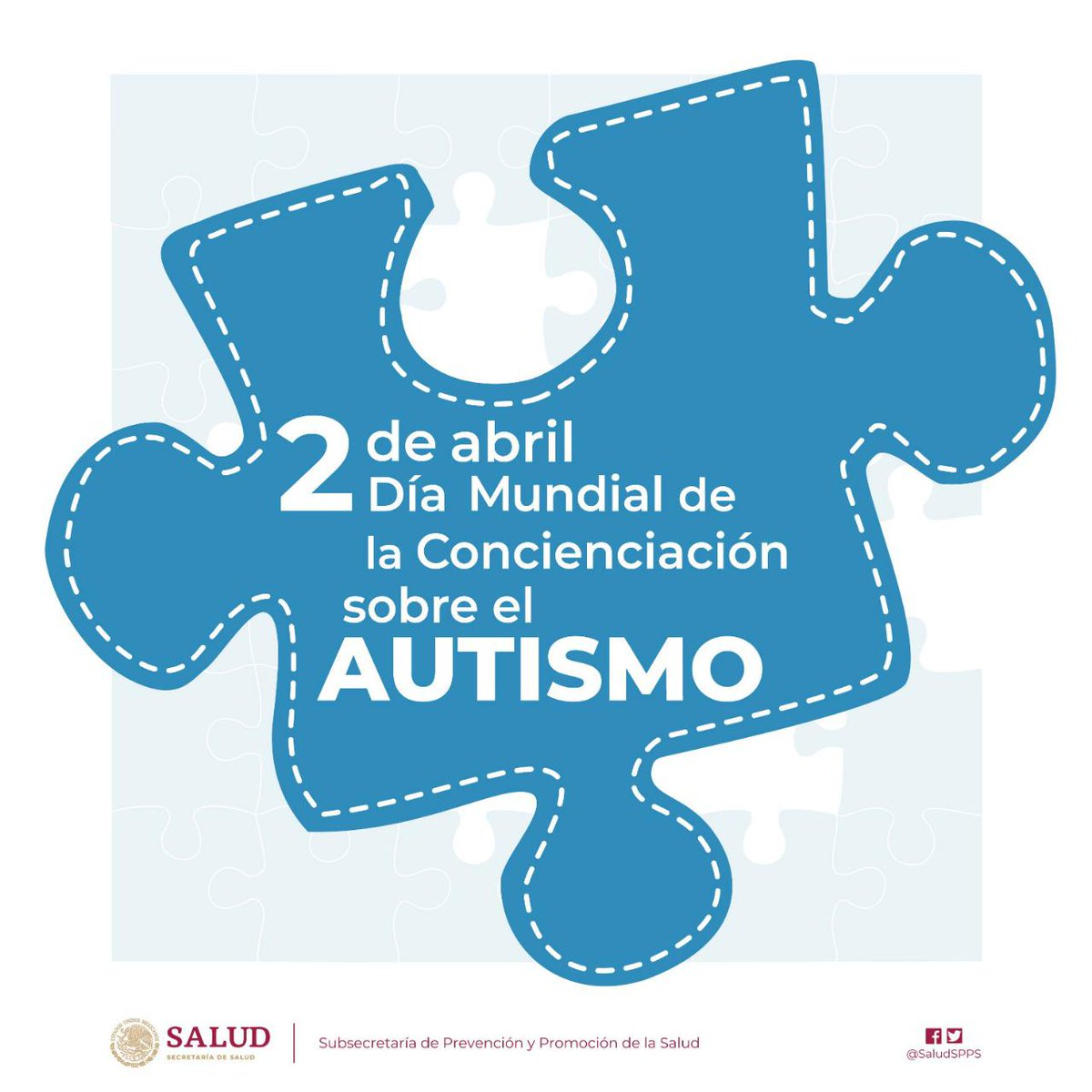 Día Mundial de la Concienciación sobre el Autismo. Foto de @SSalud_mx