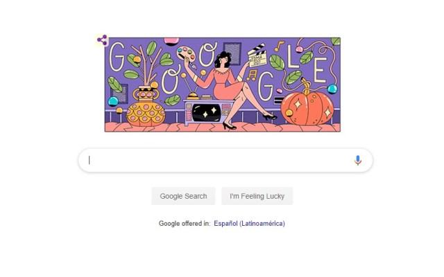 Doodle de Google conmemora a Evangelina Elizondo - Captura de pantalla