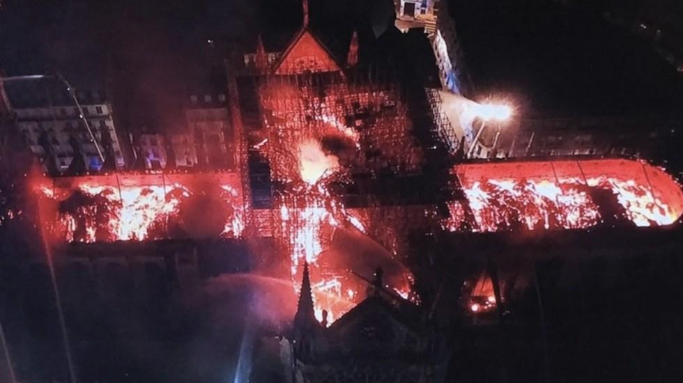 Sin indicios de un acto voluntario en incendio de Notre-Dame: fiscalía - Foto de @LePoint