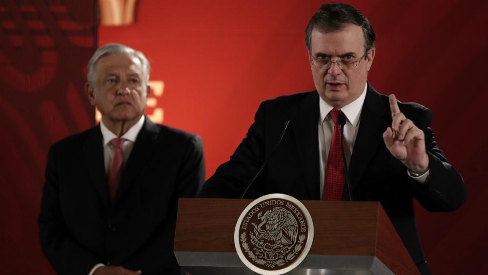 México no responde a Trump por estrategia: Ebrard - Foto de Notimex