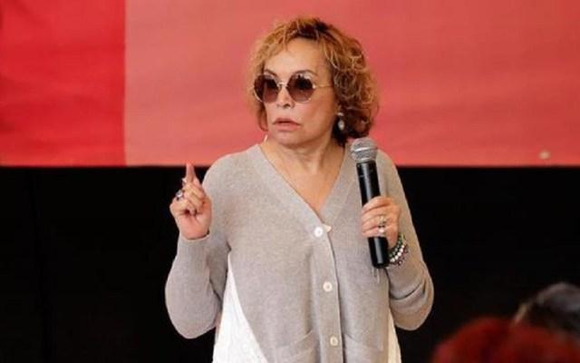 CNTE pide regresar a Elba Esther Gordillo a la cárcel - Elba Esther Gordillo en Puebla. Foto de xevt