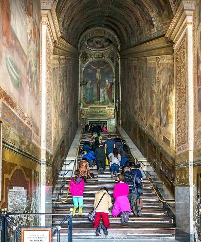 Se presume que Cristo ascendió por las escaleras para comparecer ante Poncio Pilatos. Foto de Σπύρος Ιωνάς