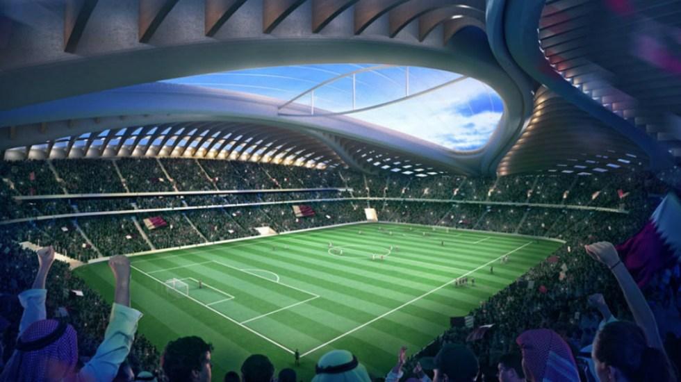 Arquitecto mexicano diseña estadio para Mundial de Qatar 2022 - Estadio de Al Wakrah.  Foto de Zaha Hadid Architects