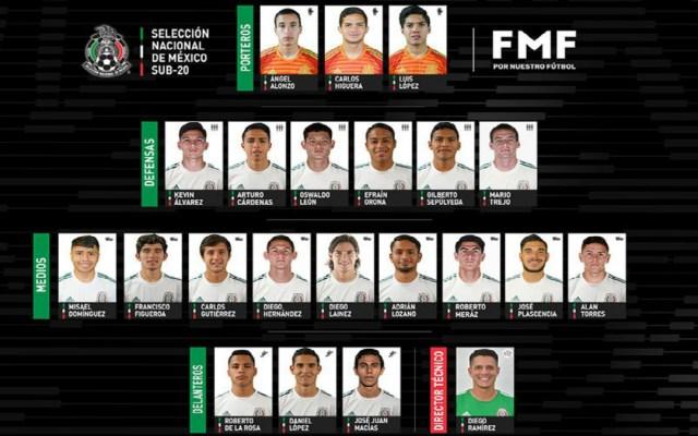 Lainez encabeza convocatoria de la Selección Nacional Sub-20 - selección mexicana sub-20