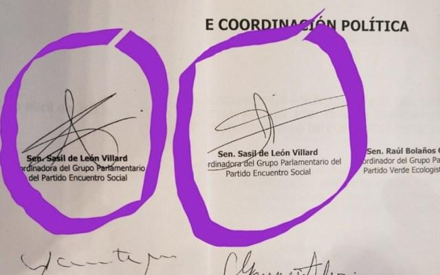 Acusa Acción Nacional falsificación de firmas en el Senado - Foto de @kenialopezr