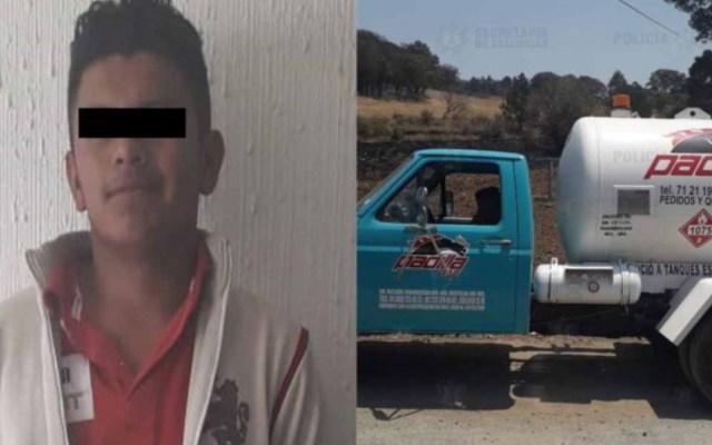 Detienen a hombre con pipa de combustible robado en el Estado de México - Pipa hombre combustible robado estado de méxico