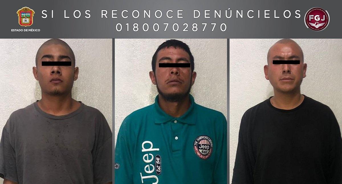 Detenidos por homicidio de madre e hija. Foto de FGJEM