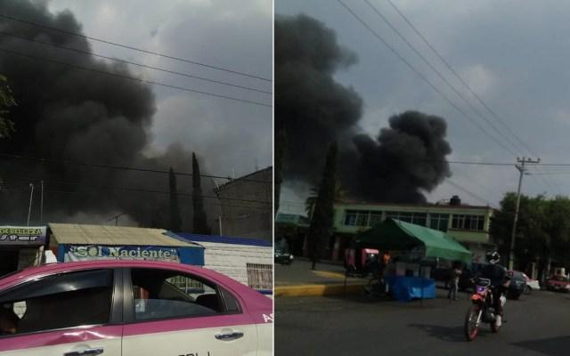 Bomberos controlan incendio en inmueble de Iztapalapa - Bomberos Iztapalapa incendio