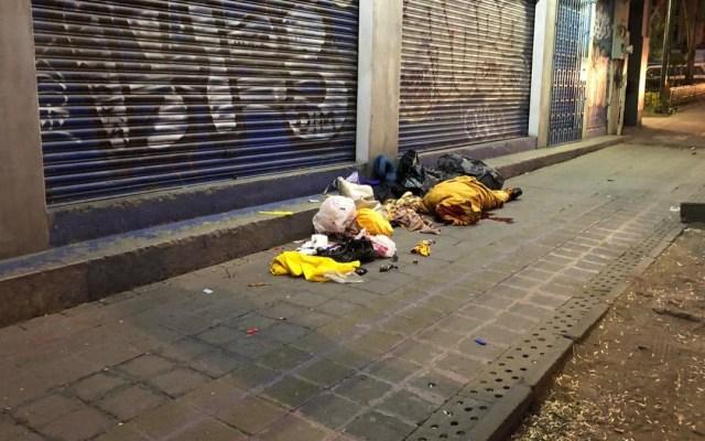 Muere mujer indigente en Bucareli - muerte indigente bucareli