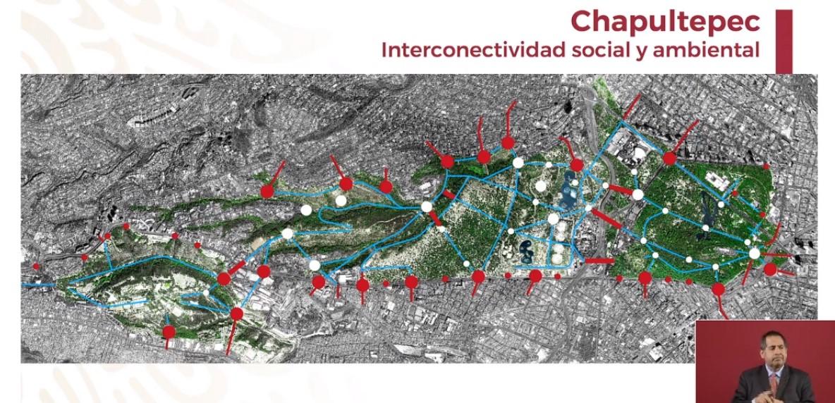 Se habilitarán múltiples accesos a todo Chapultepec. Captura de pantalla