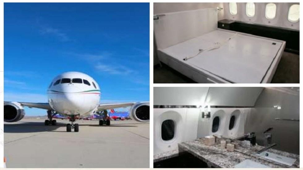 Trudeau rechazó comprar el avión presidencial por lujoso, asegura AMLO - Interior del avión presidencial. Foto del Gobierno de México