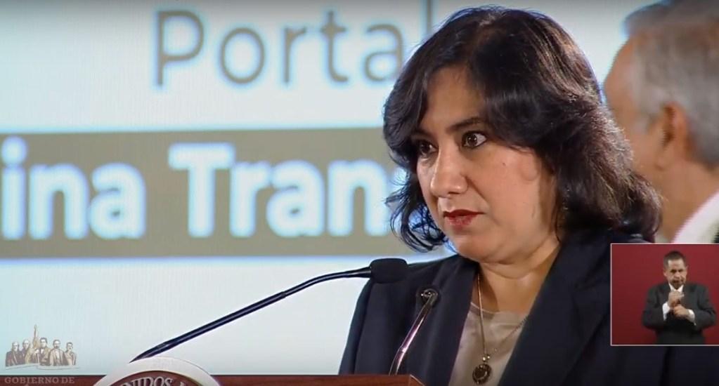 Anuncia SFP transparencia de nómina de funcionarios en tiempo real - Irma Eréndida Sandoval. Captura de pantalla