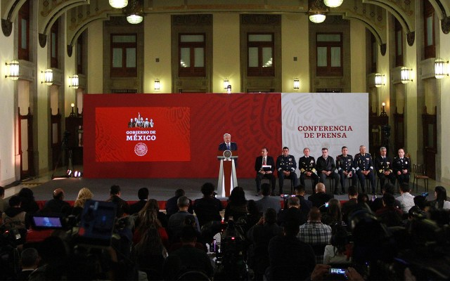 AMLO denuncia cámara oculta dentro de reuniones en Palacio Nacional - Foto de Notimex-Francisco Estrada.