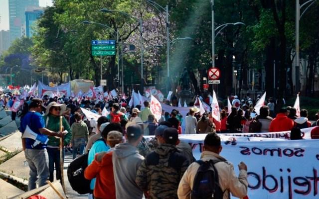 Al menos cuatro movilizaciones este lunes en la Ciudad de México - Foto de Notimex