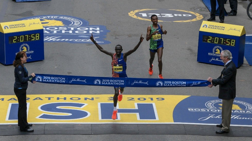 Lawrence Cherono gana el Maratón de Boston - Foto de @bostonmarathon