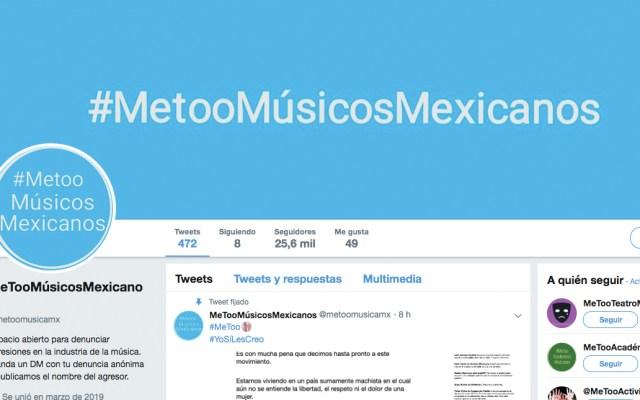 MeTooMúsicosMexicanos cierra cuenta de Twitter - Captura de pantalla