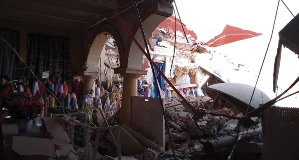 #Video Colapsa techo de tienda en Cuautla - Foto de Cruz Roja Morelos