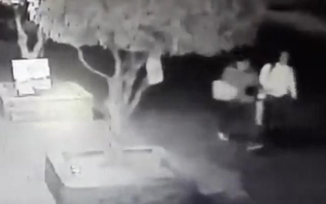 #Video Sujeto falla al asaltar a mujeres en Tlalpan - Víctimas de asaltante en Tlalpan. Captura de pantalla