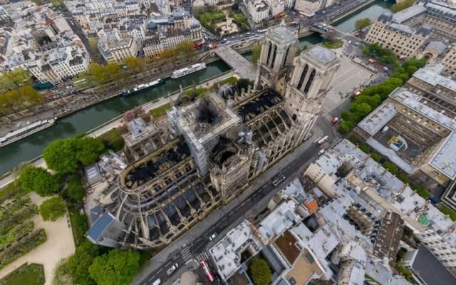 Foto 360º de la catedral de Notre-Dame tras incendio - Captura de pantalla