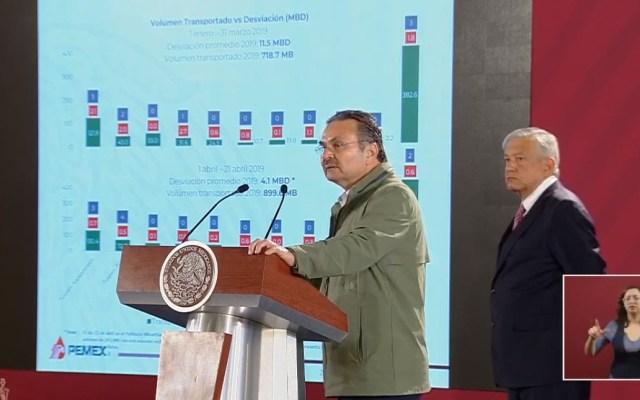 Pemex presume buenos resultados contra el robo de combustible - Octavio Romero Oropeza. Captura de pantalla