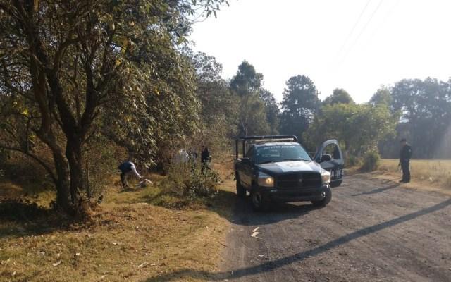 Hallan muerto a exalcalde de Chalco tras ser secuestrado - Paraje donde hallaron el cadáver del exalcalde de Chalco. Foto de @FabisFs67