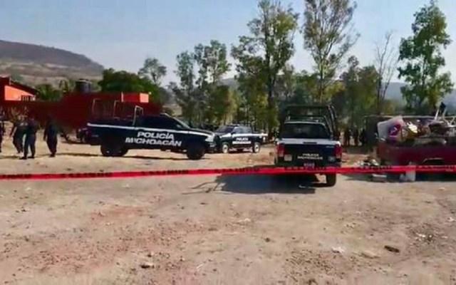 Balacera deja dos policías y un empleado bancario muertos en Tarímbaro - Predio donde concluyó intercambio de disparos. Foto de El Sol de Morelia