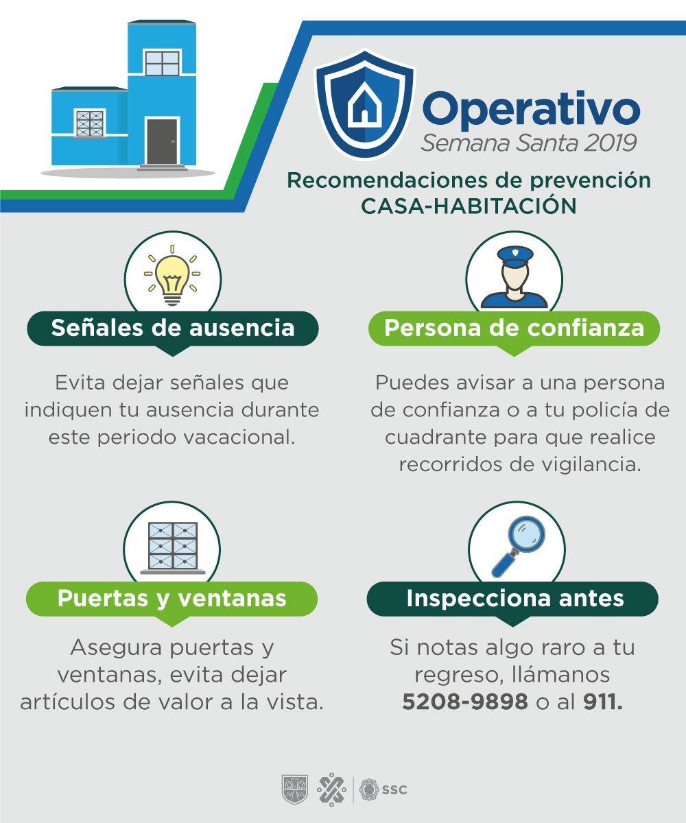 Recomendaciones contra el robo a casa habitación. Foto de @SSP_CDMX