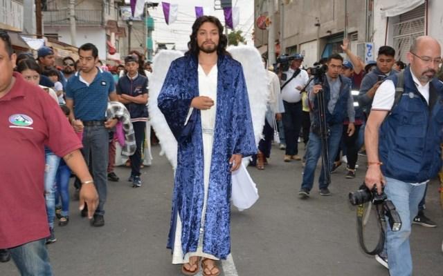 Pasión de Cristo en Iztapalapa será resguardada por siete mil policías - Representación de la Pasión de Cristo en Iztapalapa. Foto de @Alc_Iztapalapa