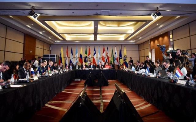 Grupo de Lima buscará sumar a Cuba a solución en Venezuela - Reunión del Grupo de Lima. Foto de @Minrel_Chile