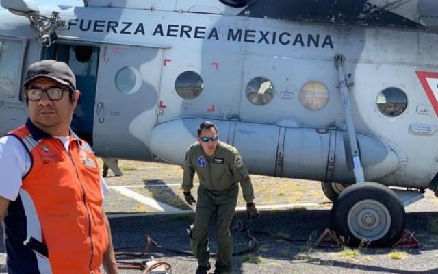 López Obrador no descarta uso de la Fuerza Aérea en caso de emergencia - Foto de @PC_SLP