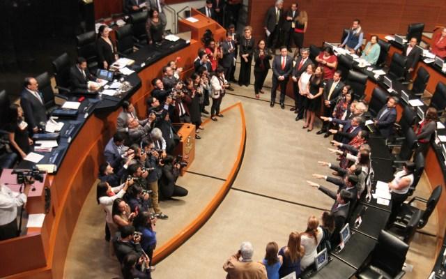 SRE remitirá nombramiento de 14 embajadores al Senado - Sesión del Senado. Foto de Notimex