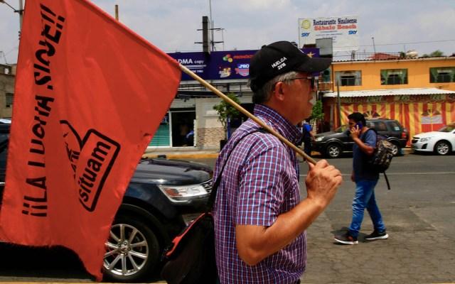 Miembros del SITUAM apuestan por alargamiento del conflicto - Foto de Notimex