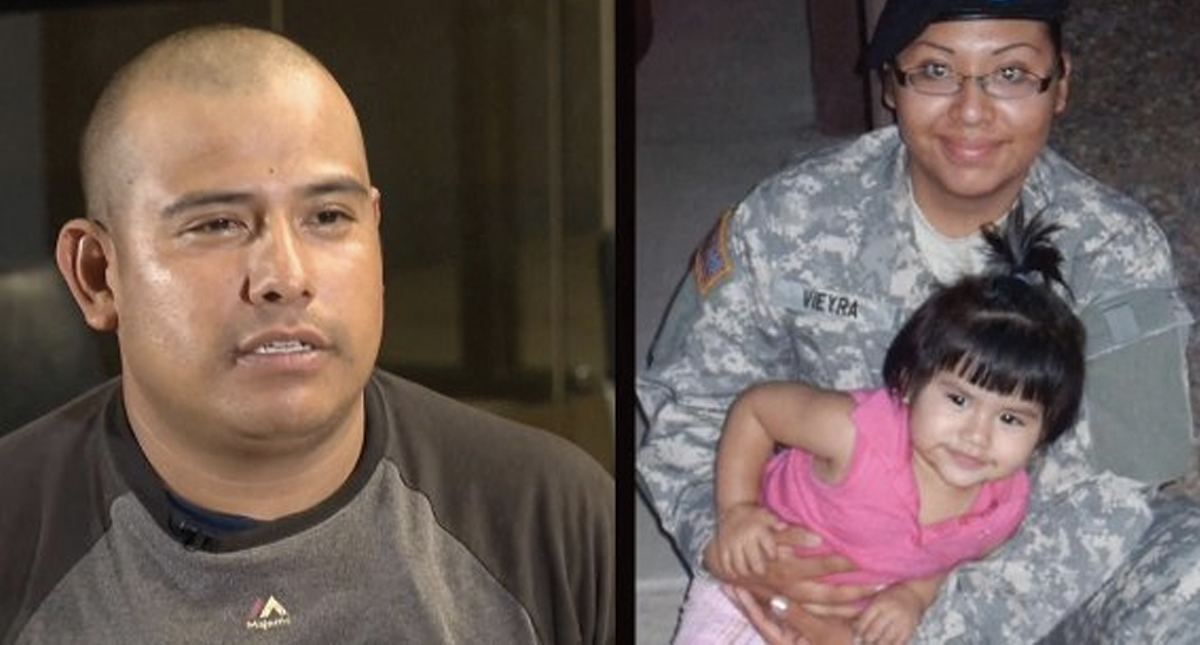 ICE deporta a mexicano esposo de una soldado que murió en Afganistán