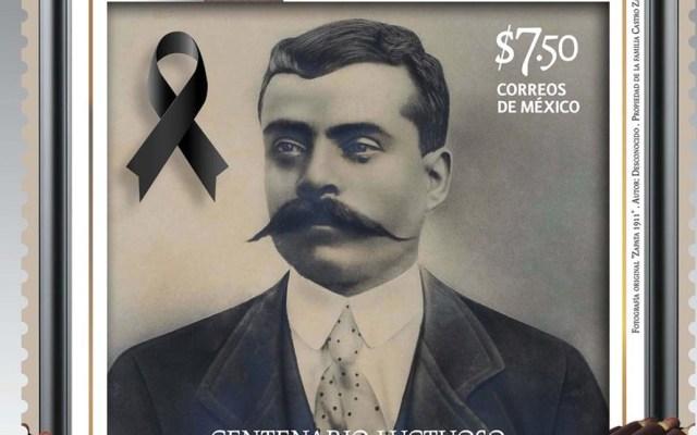 Cancelan timbre postal de Emiliano Zapata - Foto de Sepomex