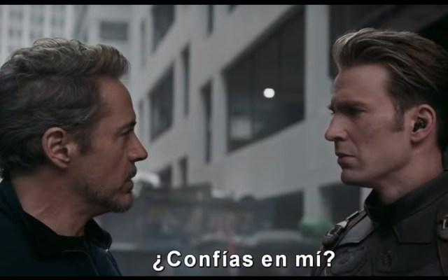 #Video Iron Man y Capitán América se reconcilian en tráiler de Endgame - Tony Stark y Steve Rogers. Captura de pantalla