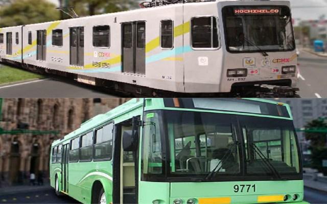 Trolebús y Tren Ligero alargarán horario festivo - Tren Ligero y Trolebús. Foto de STE CDMX / LDD
