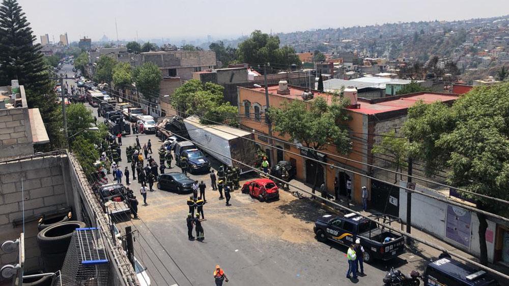 Accidente de traíler en Santa Fe. Foto de LDD