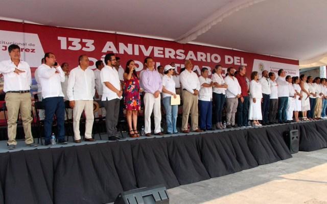 Ceteg toma templete durante evento oficial en Acapulco - alcaldesa acapulco