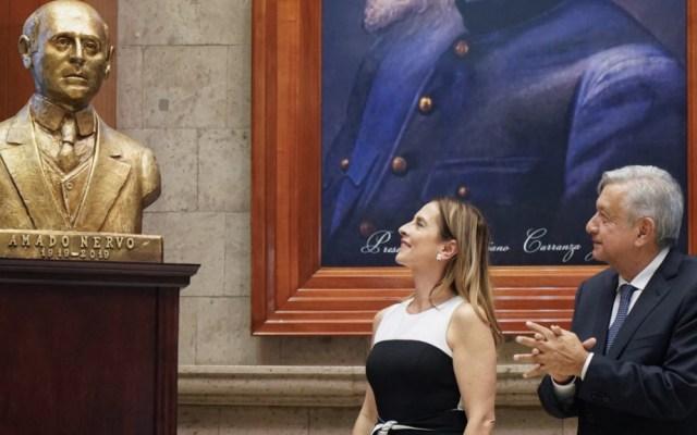 Encabeza AMLO homenaje por centenario de la muerte de Amado Nervo - Foto de López Obrador