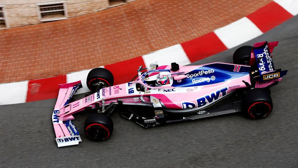 Sergio Pérez sale ileso tras incidente en Mónaco
