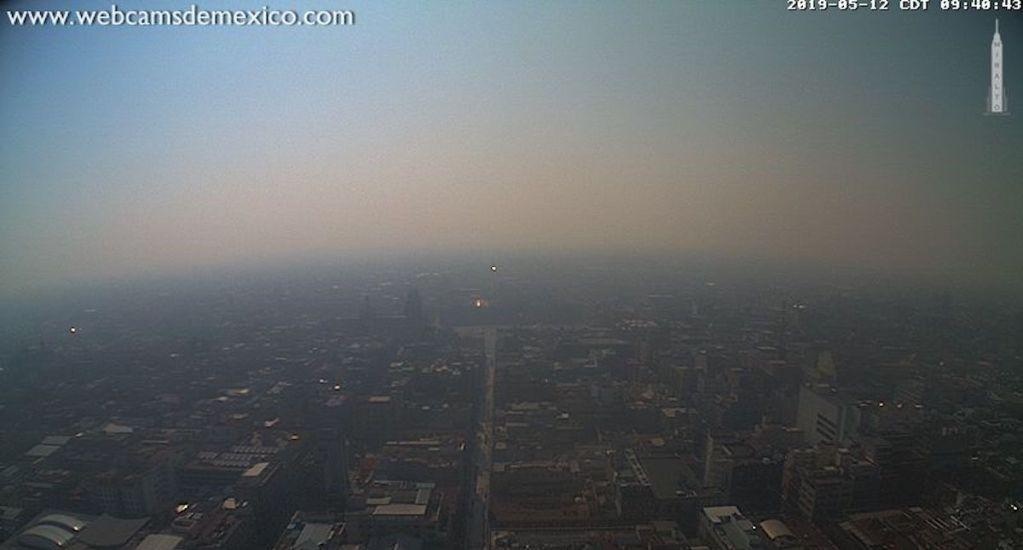 Oriente del Valle de México con mala calidad del aire - Foto de @webcamsdemexico