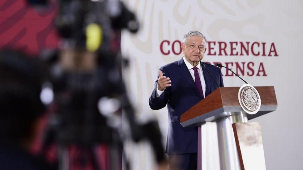 Por elecciones, INE ordena suspender conferencias de AMLO en seis estados - Conferencia de prensa de AMLO. Foto de Presidencia de la República