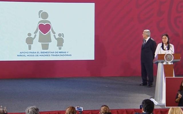 Apoyos para estancias infantiles tiene avance del 92 por ciento - Conferencia estancias infantiles. Captura de pantalla